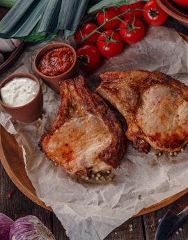 шашлык из свинины на кости